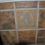 Batchelder art tile with peacocks
