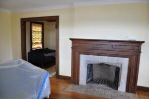 fireplace surround by Batchelder