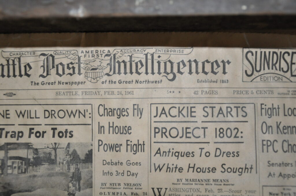 Seattle PI old newspaper