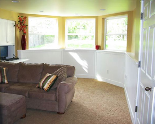 The Basement Remodel Seattle Is Now Truly A Daylight Basement. A Bank Of  Windows Provides ...