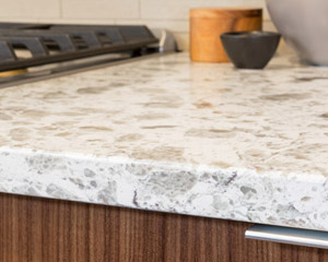 They combine beautifully with the Serra quartz counters by Pental and Parc series backsplash tile.