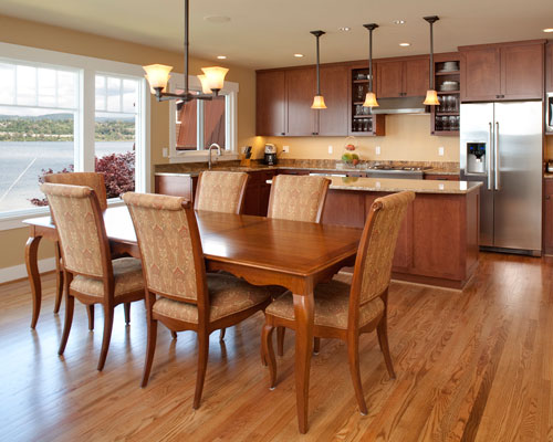 The Open Floor Plan Places Dining Room And Kitchen Side By Views