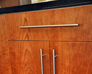 Cabinet hardware was carefully selected and placed.