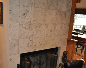 Before: the old fireplace dominated the main floor, truncating rooms with its monolithic proportions.