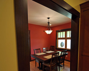 Where the cramped kitchen once stood is now a serene and beautiful dining room. room additions Seattle