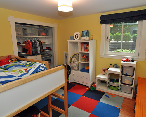 The Niche An Ideal Basement Bedroom: Bright Colors, Functional Space, And A  Big Egress Window ...