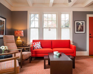 The finished spaces are insulated, updated and very comfortable.  And what a treat to uncover a 100-year-old secret and enjoy the ceilings of the living spaces as they were originally designed.