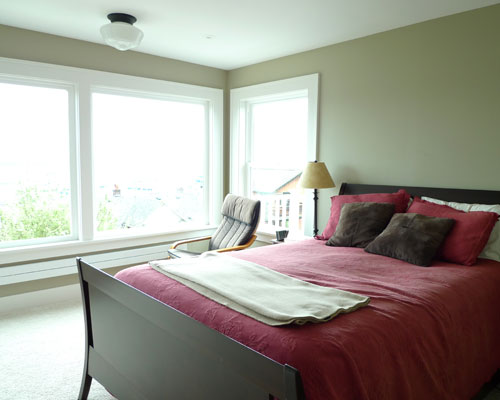 The Master Bedroom Remodel Is Now Smaller But Light And Bright. Larger  Windows Provide A ...