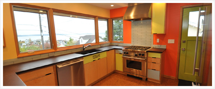 Modern Kitchen Remodel modern kitchen remodel - ventana construction seattle, washington