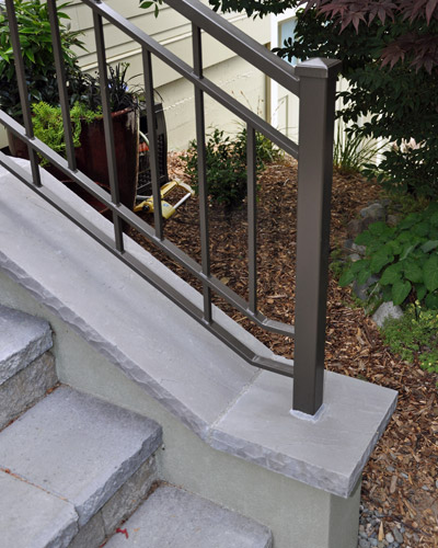 Marvelous The Porch Is Built With Concrete Footings, CMU, Finished With Pavers And  Caps, ...