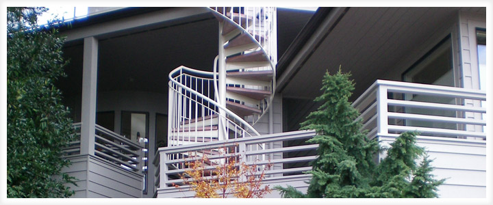 Custom Stairs Seattle   Seattle Balcony Remodel